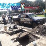 Municipalidad de Amatitlán realiza limpieza de tragantes de agua pluvial de la ciudad